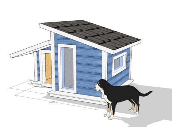 lämpöeristetty koirankoppi MITTEL -2
