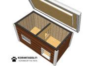 Koirankoppi aukeva katto