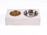 koiran ruokakuppi betoni – kuppiteline